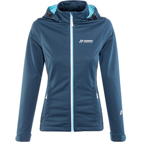 Maier Sports Fabolo Chaqueta Softshell Mujer, blue wing teal